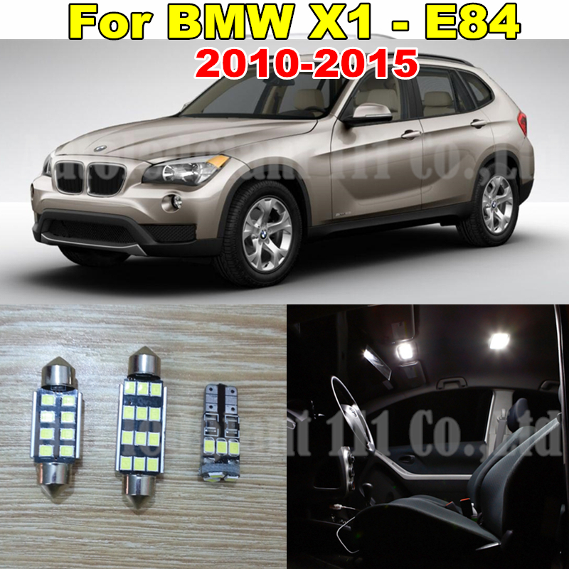 13x Pure White Error LED Car lighting Light BMW X1 E84 Interior light Kit 2010 2011 2012 2013 2014 2015 Canbus - WLJH Carparts Store store