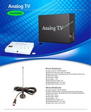 factory wholesale one Antenna Car Analog Mobile TV Box for Turkey Indonesia India other countries 2pcs/lot ES-P152(China (Mainland))