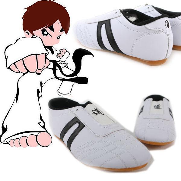Taekwondo Kung Fu Wu Shu Karate Tai Chi Martial Training Four Stripe shoes Footwear Sneakers Free Shipping #L035221(China (Mainland))