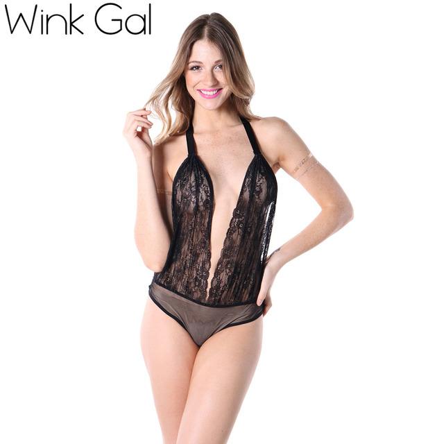 Wink Gal сексуальный женский комплект нижнего белья кружевное ультратонкое нижнее ...