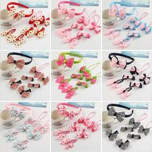 Buy Candy Color Dot Bow Headwear Set Kids Girls Hair Clip Accessories Cute Bowknot Hairpins Children Girl C1 for $1.95 in AliExpress store