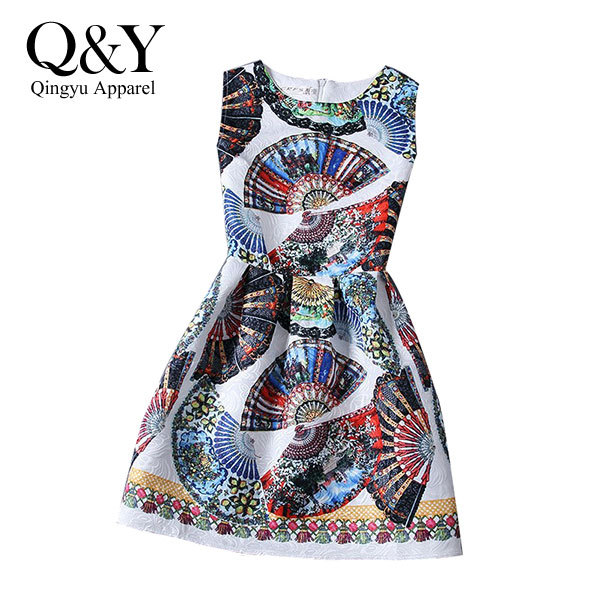2016 Summer Style Women Dress Vintage Printed Vestidos Casual Dress Mini Above Knee Dress Party Dresses Cheap Clothes China S-XL(China (Mainland))