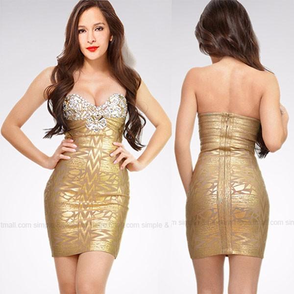 Herve-Leger-Gold-Crystal-Strapless-Bandage-Dress-(7)-50
