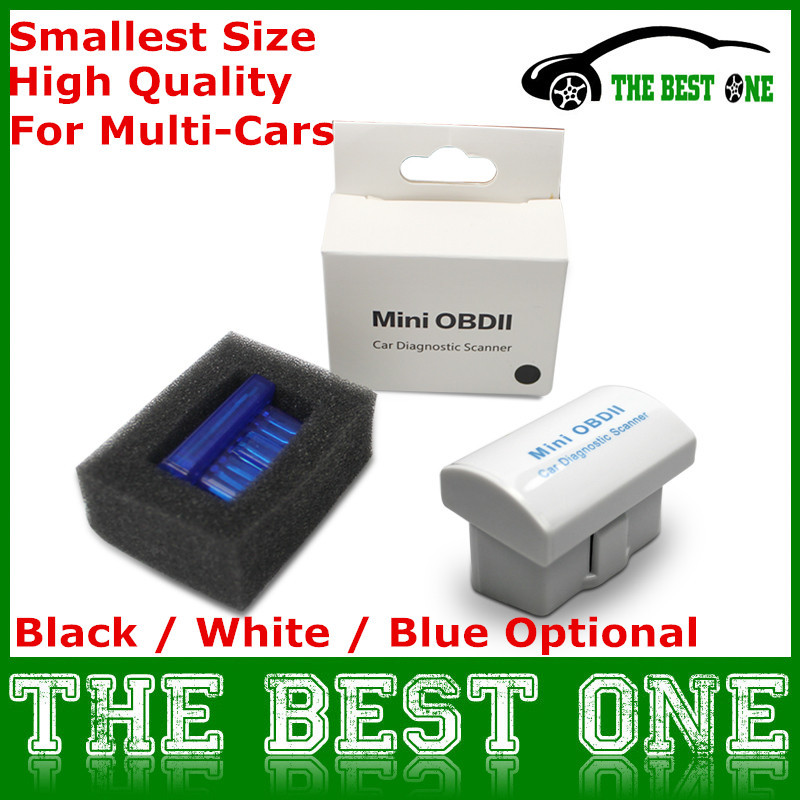 Sale! Latest V2.1 Super MINI ELM327 Bluetooth 2.0 OBD 2 / OBD2 Wireless Scanner ELM 327 Multi-Language Work ON Android / Windows(