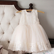 Buy 2017 SUMMER NEW Children Clothes Baby Girl Elegant Lace Princess Party White Pink Dress Teenager Kids Dresses Age 3-10GDR257 for $15.26 in AliExpress store