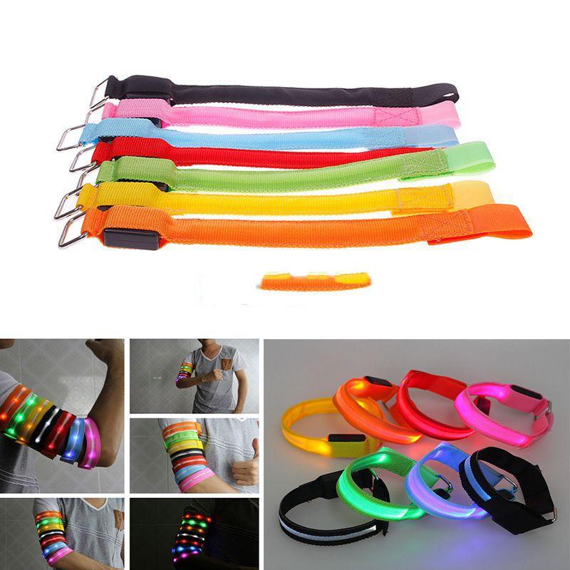 Dollarine Special! New Running Jogging Cycling Reflective LED Aarmband Flashing Light Wrist Band Newly!!(China (Mainland))