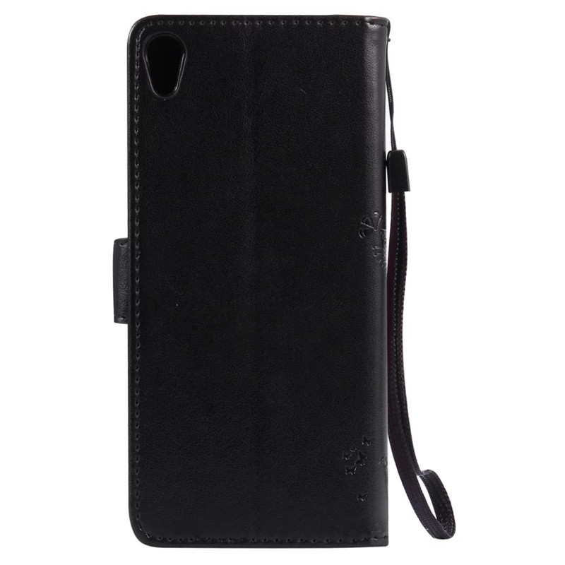 Leather case for coque Sony Xperia XA F3111 F3113 F3115 Case Cover for coque Sony XA Tree Pattern Mobile Phone bags+card holder