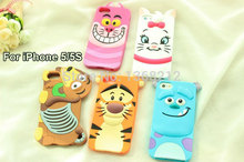 Buy 1PCS 3D Cute Cartoon Silicon Case Cover iPhone SE 5 5G 5S Tigger Marie/Alice Cat Monsters Sulley Slinky Dog Cell Phone Cases for $1.98 in AliExpress store