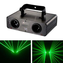 2 head  double lens green laser lightdisco stage theatre square project image light from china(China (Mainland))