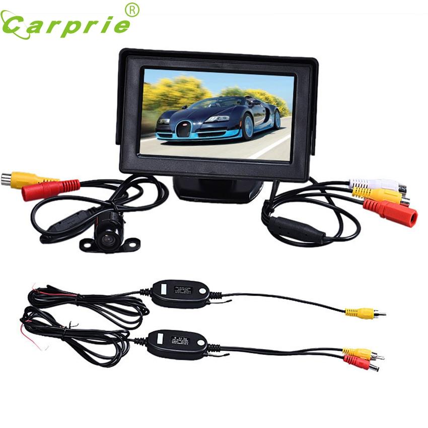 CARPRIE Super drop ship 4.3 Inch TFT LCD Monitor + Car Reverse Rearview Back Up Camera Parking Wireless Kits Mar715(China (Mainland))