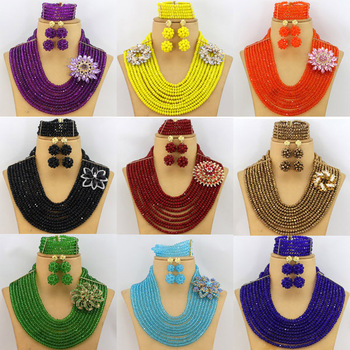 Fashion African Beads Jewelry Sets 2015 Best Selling Nigerian Wedding Jewelry Set Wholesale Free Shipping GS030