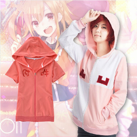HOT NEW Kagerou Project Cosplay Anime MOMO Half Sleeve Pure Cotton Round Collar Summer T-shirt Short Sleeve(China (Mainland))