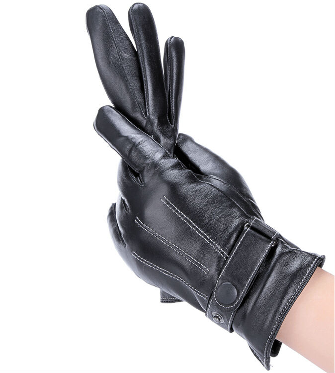 Gours Winter Top Quality Genuine Leather Gloves Men New Brand Goatskin Fashion Driving Touch Screen Gloves Goatskin Mittens