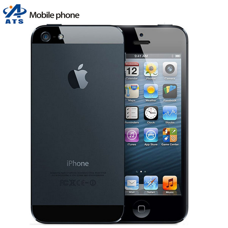 "iPhone 5 Original Unlocked Apple iPhone 5 Mobile Phone 4.0"" Dual Core 8MP WIFI GPS iphone 5 cell phone(China (Mainland))"