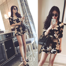 Buy Plus size 3XL 4XL Women summer playsuit chiffon print Deep V neck shorts jumpsuit overalls rompers womens jumpsuit women 39 for $14.25 in AliExpress store