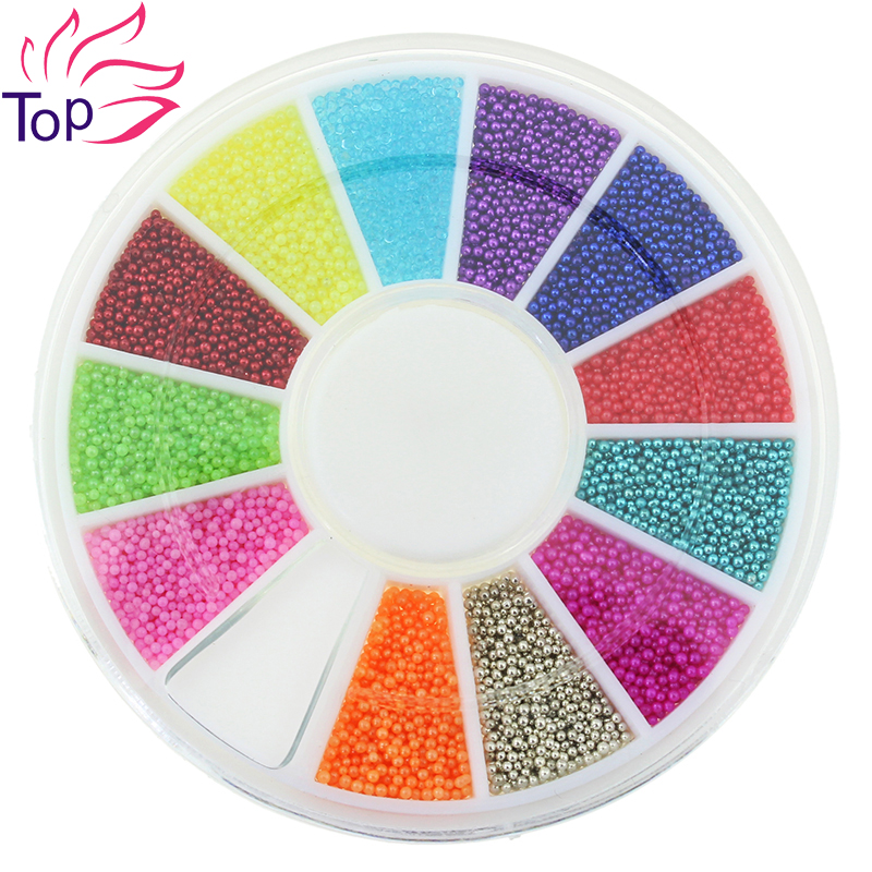 12 Color Metal Beads Studs Supplies For Nails Design 6*6cm Wheel Caviar Ball Diy Charms 3D Nail Art Decorations ZP224<br><br>Aliexpress