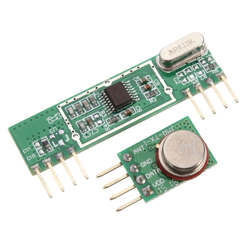 Wireless Temperature Sensor using RF Transmitter/Receiver