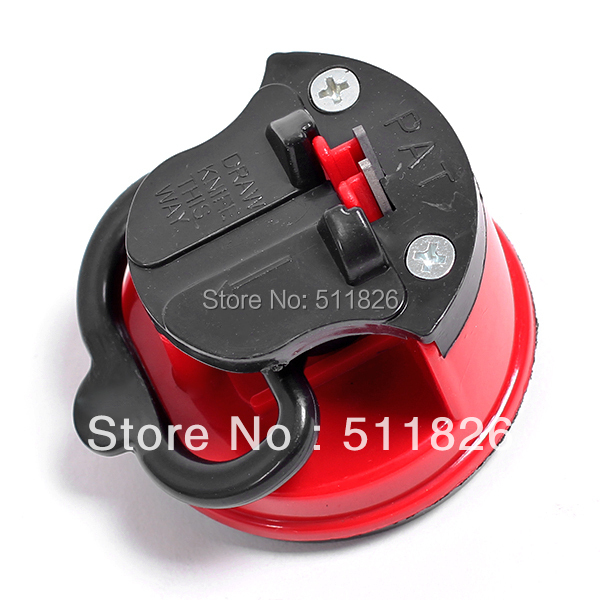 steel Knife Sharpener with suction pad Scissors Grinder Secure Suction Chef Pad Kitchen Sharpening Tool free shipping 8575(China (Mainland))