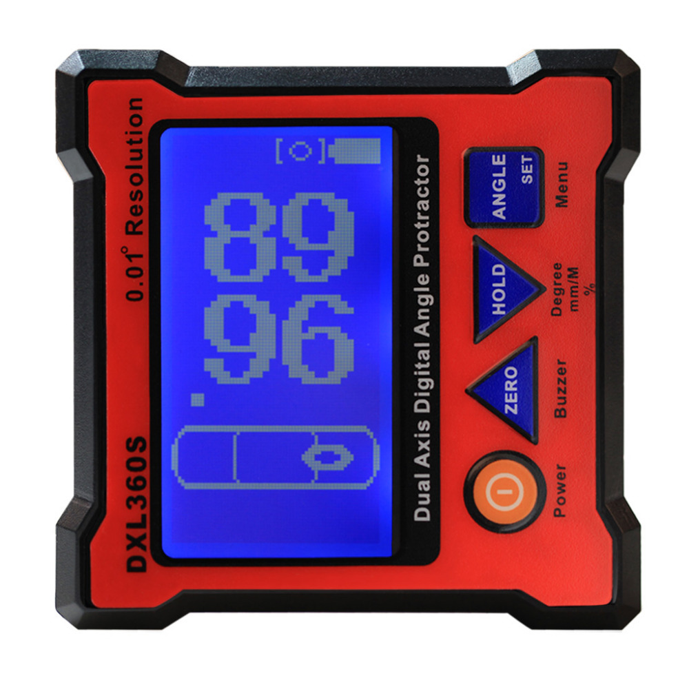 New Arrival DXL360S Digital Protractor Inclinometer Dual Axis Level Measure Box Angle Ruler Elevation Meter(China (Mainland))