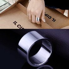 Wide smooth titanium steel rings ring fashion jewelry stainless rings for women princess ring bulk cheap jewelry anel titanium