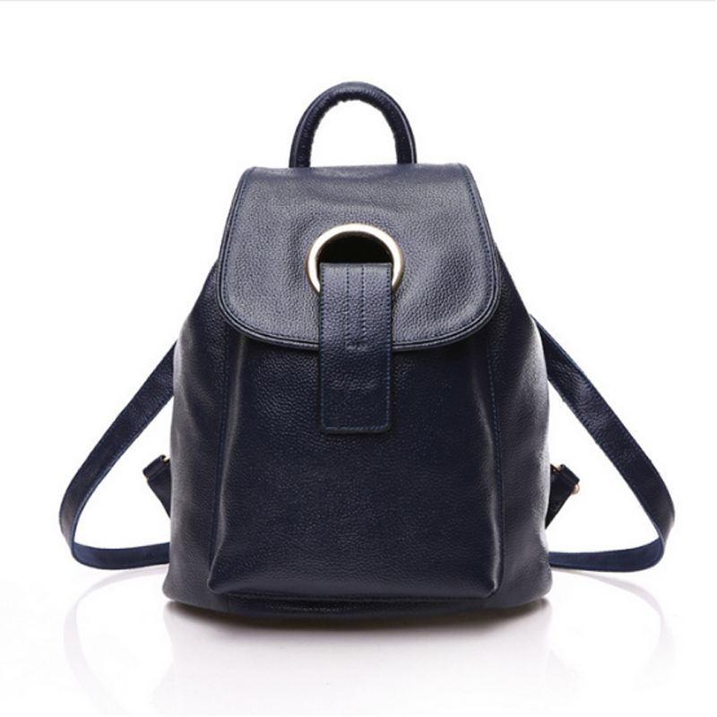 2015 New Style Womens Genuine Leather Backpack Fashion Trend Ladies Bags Stylish Girls School Bag Preppy Style Female Backpacks<br><br>Aliexpress