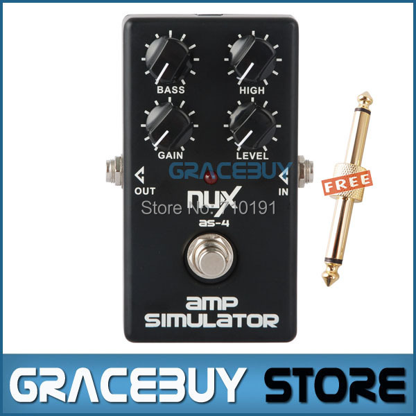 Amplificador Modern NUX AS-4 simulador de guitarra Bass Pedal efecto impulsa un mayor efecto de distorsión puente verdadero instrumento Musical(China (Mainland))