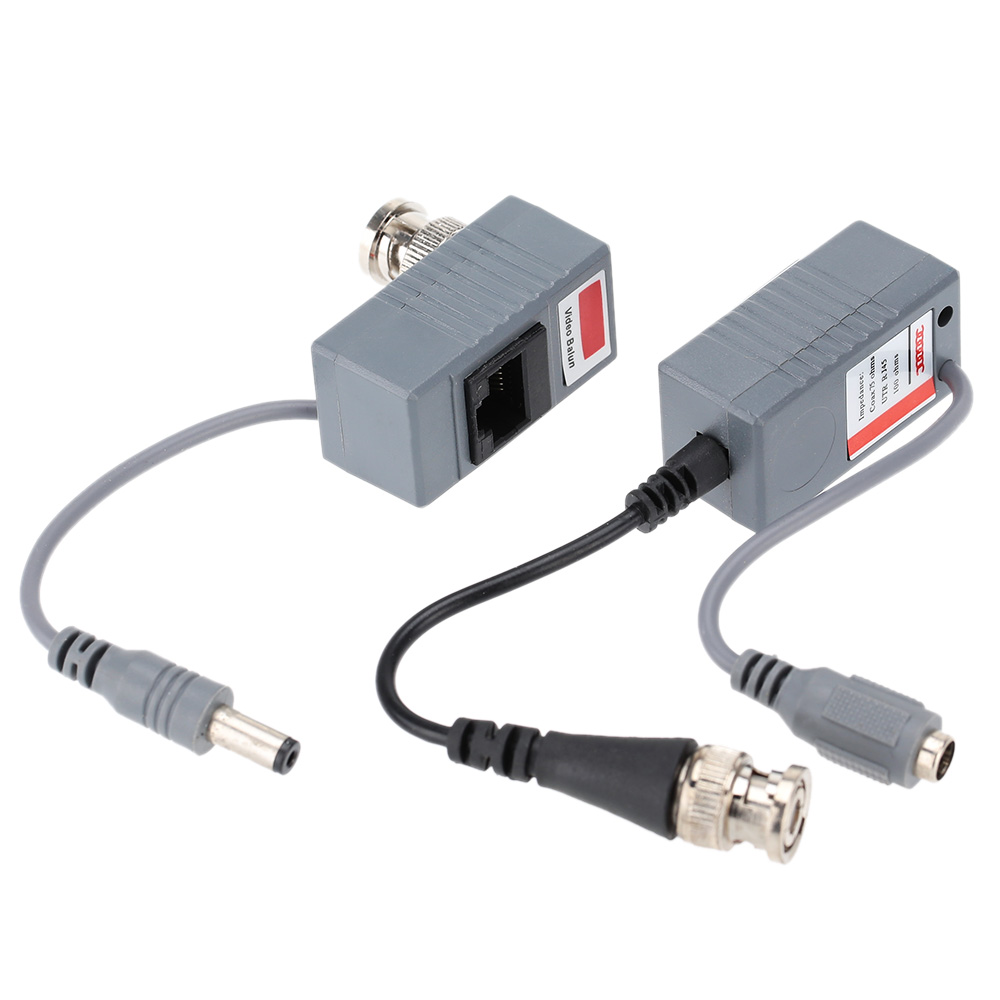 10pcs CCTV Camera Accessories Audio Video Balun Transceiver BNC UTP RJ45 Video Balun with Audio and Power over CAT5/5E/6 Cable(China (Mainland))