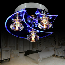 living room lamps LED crystal lamp round ceiling lamps simple modern bedroom lamps warm restaurant lighting Chandelier(China (Mainland))