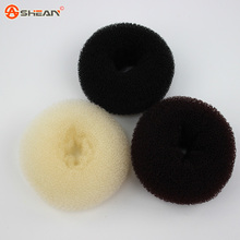 3 Colors Hair Accessories New Womens Girls Hair Donut Bun Ring Shaper Styler Maker Brown Black Beige Selectable(China (Mainland))