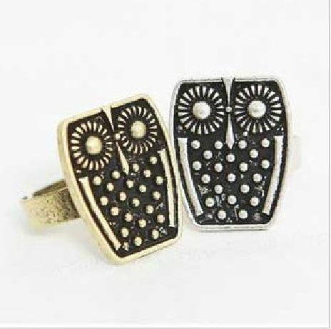 Min order is 6$ (mix order ) Fashion vintga owl personality accessories finger rings for women(China (Mainland))