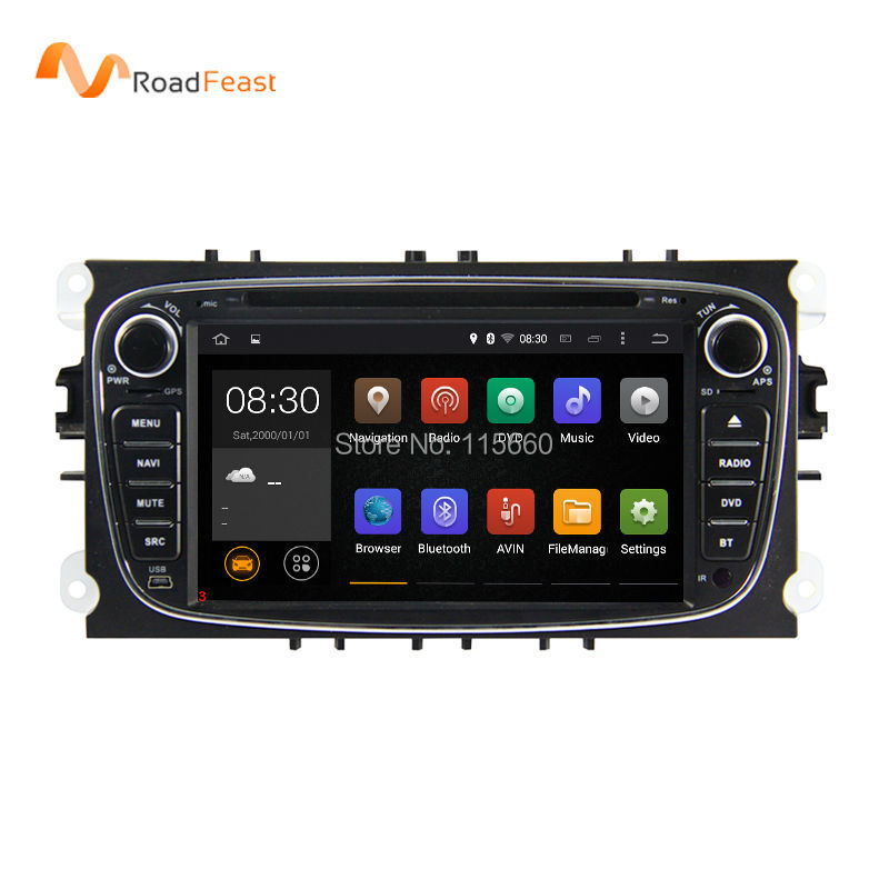 Capacitive Screen Pure Android 4.4.4 Car DVD Navigation for Ford Mondeo S-Max Cmax Focus II GPS Radio iPod Wifi 3G Bluetooth(China (Mainland))