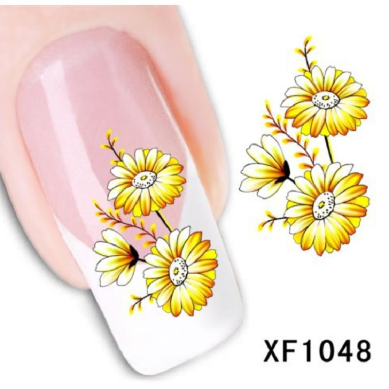 summer style decorations yellow daisy decal stickers nail art manicure tip decoration beleza french designer brand(China (Mainland))