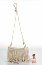 dames tassen Fashion PU Leather Women s Suede Weave Tassel Shoulder Bag Messenger Bag Fringe Handbags