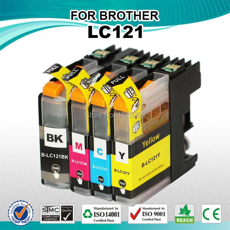 1 Set LC121 for Brother Printer Ink, Inkjet Cartridge for Brother DCP-J552DW/J752DW/J132W(China (Mainland))