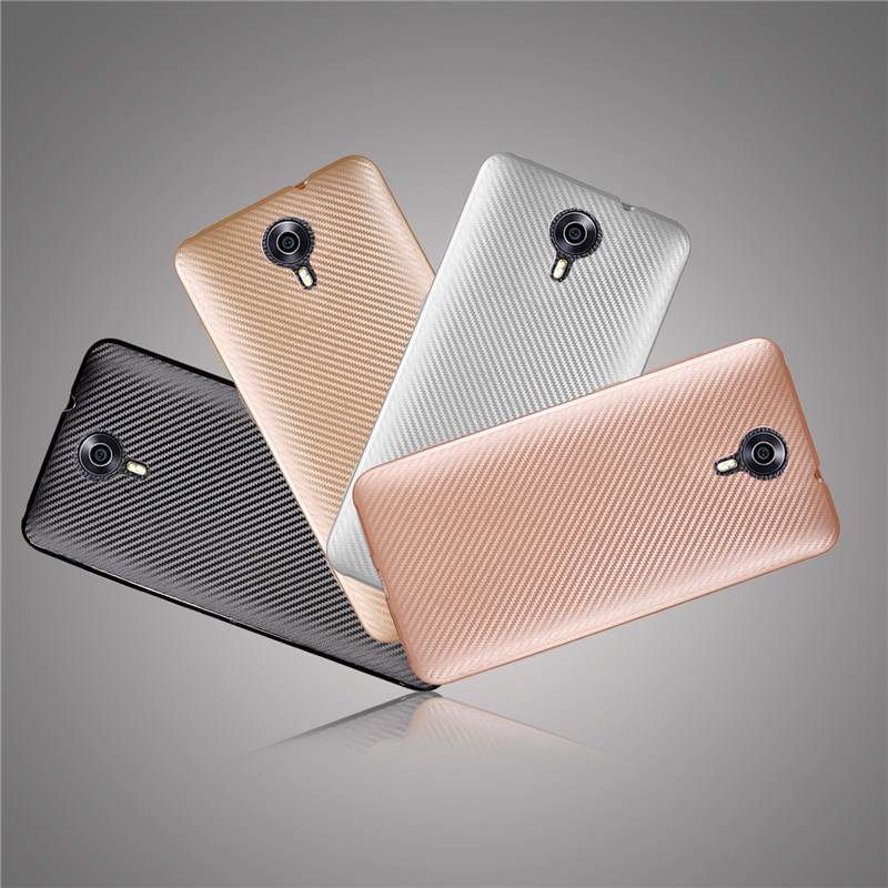 Carbon Fiber Phone Cover For Google Android One General Mobile 4G Case Silicone Rubber Capinhas Para Celular Phone Cases 4 Color(China (Mainland))