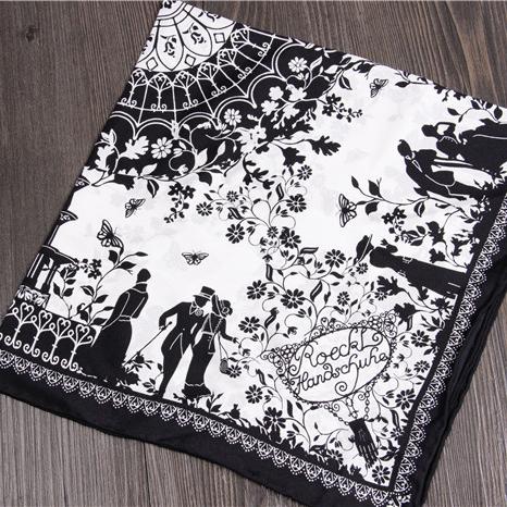 "21""x21"" black simple sketch scarf / fashion square twill silk scarf hankerchief / women bag scarf accessories free shipping(China (Mainland))"