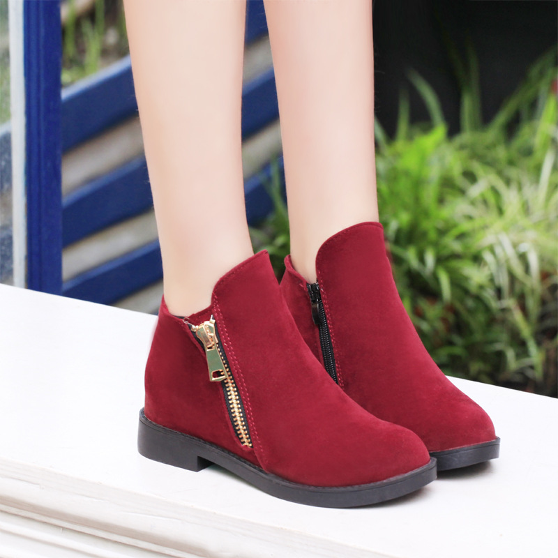 2016 new ladies casual boots manufacturers with flat shoes are all-match ladies small round boots wholesale(China (Mainland))