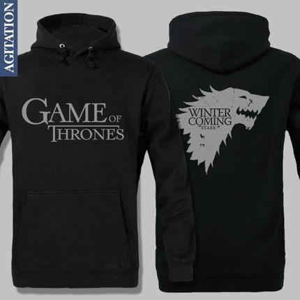game of thrones hoodie pullover hoodie winter is coming. Black Bedroom Furniture Sets. Home Design Ideas