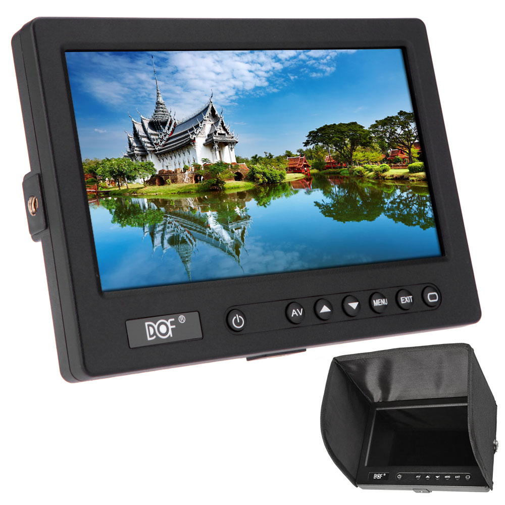 "DOF F2-HDMI Portable 7"" LCD Monitor Video Field Monitor PVC Sunshade with LED backlight Display(China (Mainland))"