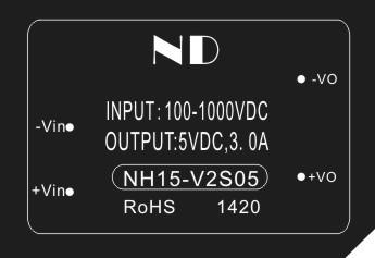 1piece PV high voltage dc dc converter 500V 600V 800V 1000V to 5V 15w dc-dc power module supply quality goods(China (Mainland))