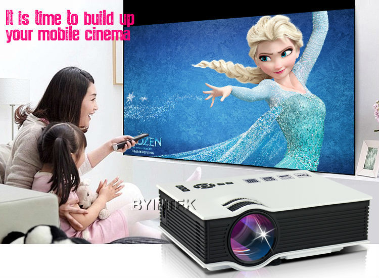 Home theater portable hdmi usb lcd led mini uc40 video for Best mini projector for powerpoint presentations