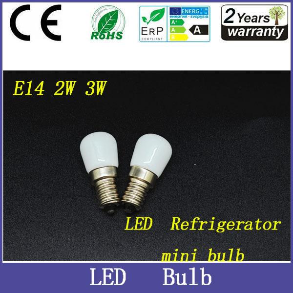 Free shipping, 5pcs/lot New E14 2W 3W Refrigerator LED lighting mini bulb AC220V~240V Bright indoor lamp for Fridge Freezer,(China (Mainland))