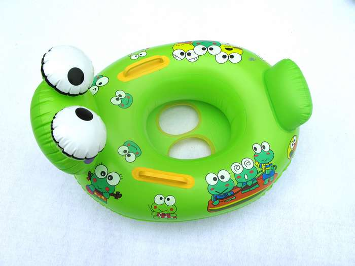 Frog boat child swim ring inflatable boat water toys swimming ring(China (Mainland))