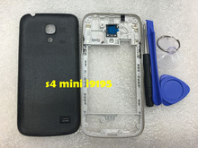 Full Housing Case Cover s4 mini For Samsung Galaxy S4 Mini I9190 I9195 i9192 Housing Middle Frame Rear Back Door(China (Mainland))