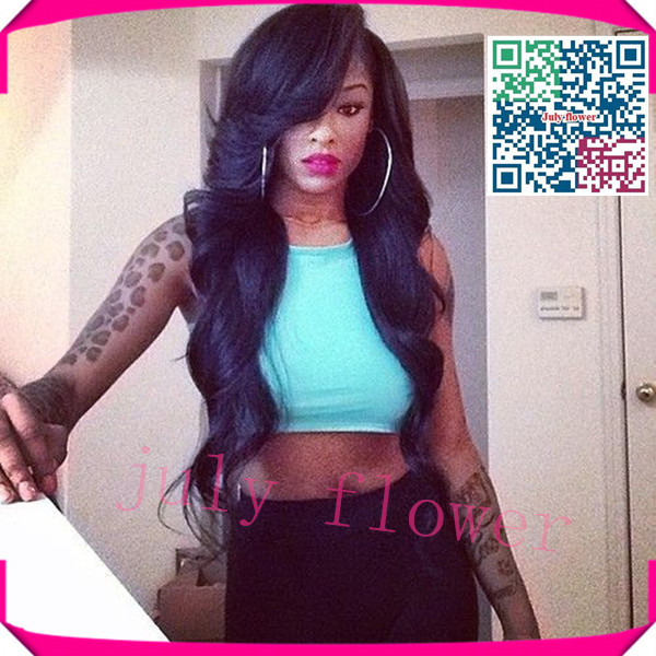 Virgin Brazilian Body Wave Lace Front Wig With Baby Hair For Black Women Lace Front Wavy Wigs Glueless Body Wave Full Lace Wigs(China (Mainland))