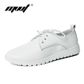 MVVT High quality cow split women oxfords Solid women flats shoes Spring Autumn casual zapatos mujer
