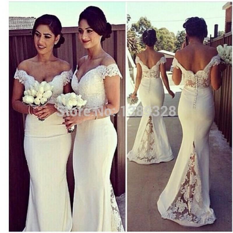 Сексуальная Милая Кружева Cap Рукава Sexy Невесты Платья 2015 See Through Сшитое Русалка Платье De Festa De Casamento
