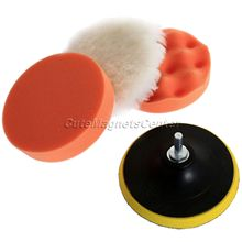 5Ps/Set 125mm Gross Polish Polishing Buffer Pad Kit for Car Styling Polisher Cleaning with M10 Drill Adapter Car Wash Auto Clean(China (Mainland))