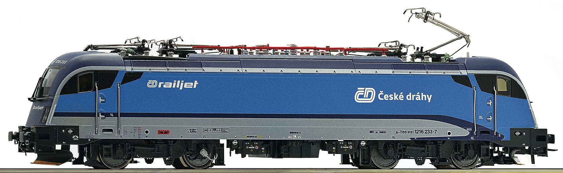 ROCO model train digital sound Rh 1216 Railjet der CD electric locomotive # 73499<br><br>Aliexpress