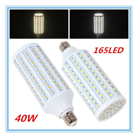 E27 led Corn Light SMD5050 40W 165LEDs AC110-220V LED bulbs E14/B22 LED lamp(China (Mainland))